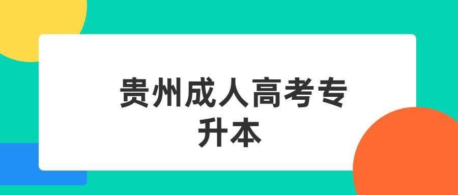 贵州成人高考专升本